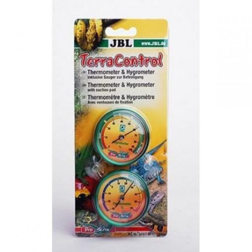Termometru si higrometru pentru terariu JBL TerraControl (1 Hygrometer, 1 Thermometer)