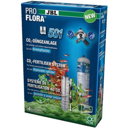 Sistem complet CO2 pentru acvariu cu butelie 500 gr, JBL ProFlora u501