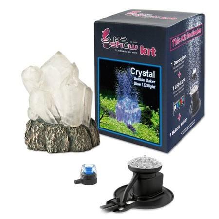 Decor acvariu H2Show Kit cu cristal și LED albastru