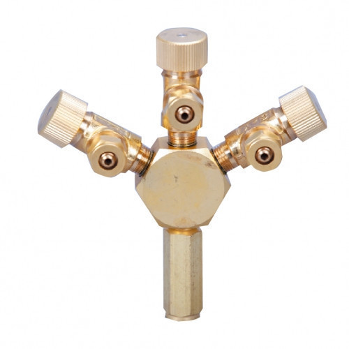 Robinet CO2/Aer, 3 cai, profesional, metal- Metal CO2/Air Flow Regulator