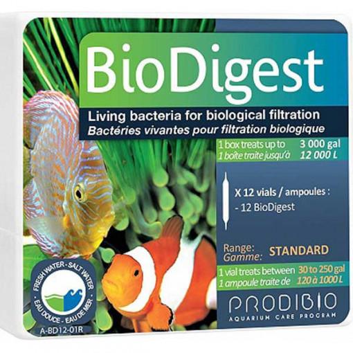 Tratament apa acvariu Bio Digest 12 fiole - PRODIBIO