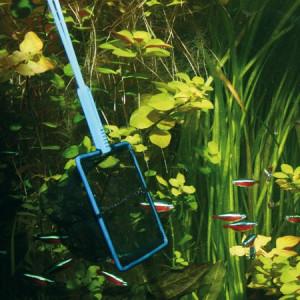 Plasa pesti acvariu JBL Premium Fishing Net black/fine 12 cm