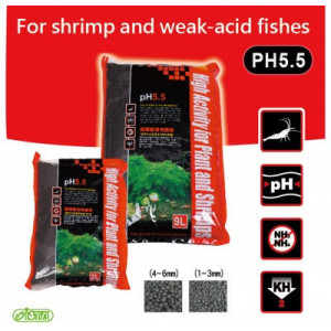 Substrat creveti acvariu -pH 5.5 9 L / M Size