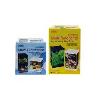 Acvariu multifunctional, sticla, alb - Multi-Aquarium Pet Case, White