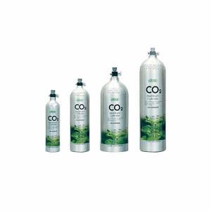 Butelie CO2 Aluminu 3L Premium, iesire in sus-Aluminium
