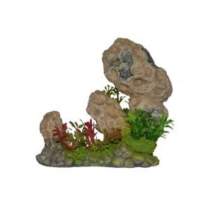 Decor acvariu roca cu plante-ZD-20139B