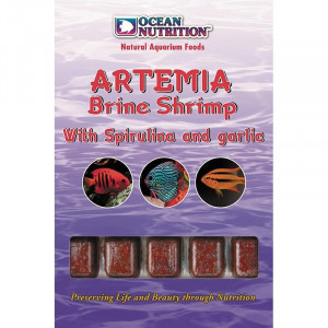 Hrana congelata Ocean Nutrition Artemia Brine Shrimp cu spirulina si usturoi
