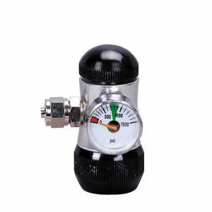 Regulator presiune CO2, 1 manometru , pentru butelie cu iesirea in sus