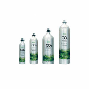 Butelie CO2 Aluminu 2L Premium, iesire laterala-Aluminium CO2