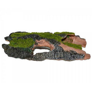 Decor pentru acvariu scoarta de copac cu moss large ( 26 cm )-ZD-F25273