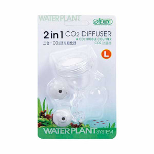 Difuzor CO2 + numarator bule ,acrylic, 2 in 1 (L)