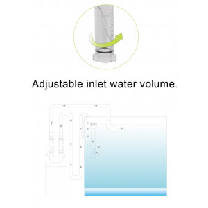 Skimmer suprafata sticla - Glass Surface Skimmer 12 mm