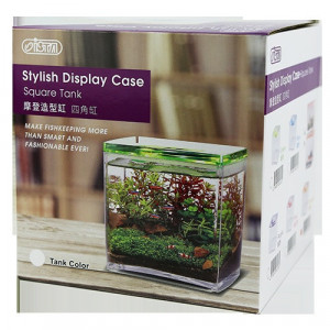 ISTA - Acvariu acrilic betta, cub, verde - Stylish Display Case-Square Tank Green
