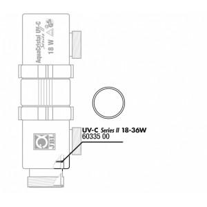 JBL Garnitura/O-ring pentru bec (57x3,9mm) UV-C 18/36W (2x)