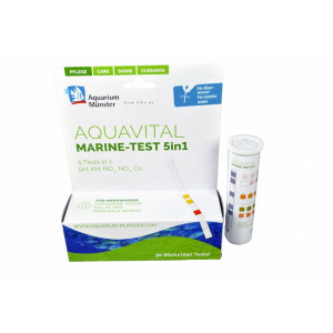 Test apa Aquarium Munster Aquavital Marin Test 5 in 1, 50 teste
