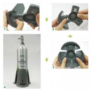 Suport butelie CO2,reglabil, 65-80 mm
