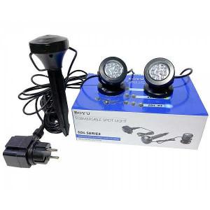 Set cu doua spoturi submersibile iaz / gradina si senzor de lumina-SDL-02