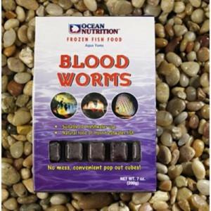 Hrana congelata pentru pesti Bloodworms 100g