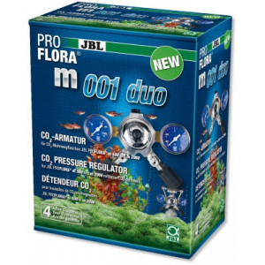 Reductor CO2 acvariu JBL ProFlora m001 duo/regulator de presiune ptr. 2 acvarii