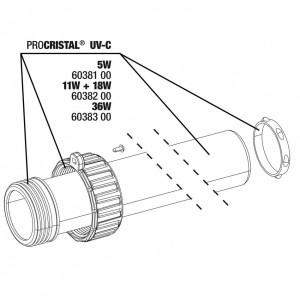 JBL PC UV-C Quartz glass kit 5W