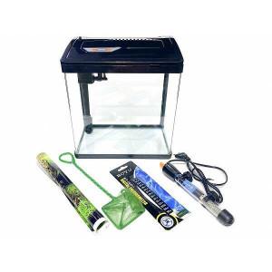Set acvariu complet echipat cu iluminare LED, filtru, incalzitor si accesorii