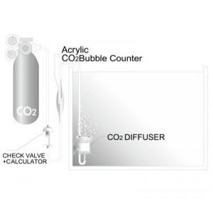 Numarator de bule acvariu , acrilic, subtire - CO2 Bubble Counter - I-565