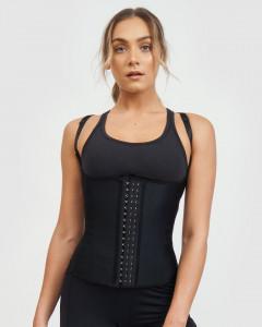 Vesta Corset Talie de Viespe Black LATEX