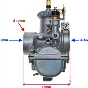 Carburator Yamaha DT100 , 125cc, 150cc - WM Moto