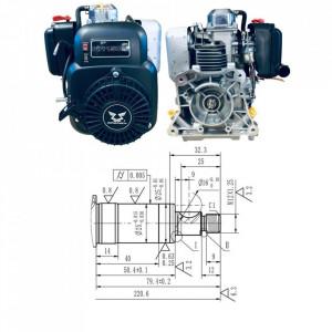Motor Zongshen NH150H 149cc - ax orizontal