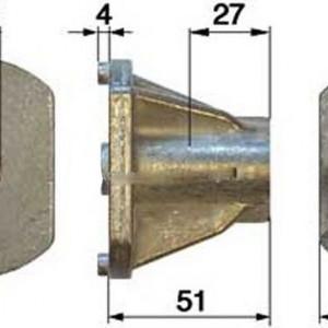 Suport cutit Castelgarden 2.54mm, Inatime 54mm