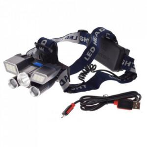 Lanterna frontala moto cu acumulator profesionala