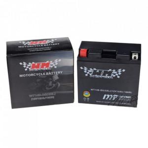 Baterie moto, scuter 12 amperi, 12V WT14B-BS cu gel