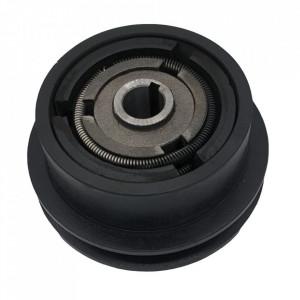 Ambreiaj centrifugal motoutilaje cu ax 20mm, fulie 115mm, curea 10mm
