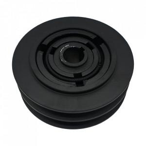 Ambreiaj centrifugal motoutilaje cu ax 25mm, fulie dubla