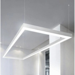 Corp led liniar suspendat 90 grade, interconectabil, 8W, 5000K