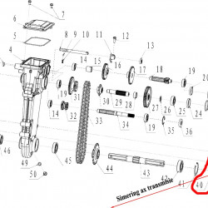 Simering dreapta ax transmisie motosapa