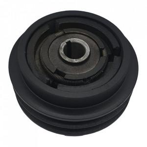 Ambreiaj centrifugal motoutilaje cu ax 20mm, fulie dubla 128mm