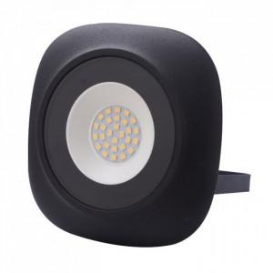 Proiector led rotund Iris, 20W (100W), 1800Lm, 6400K, lumina rece, negru