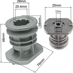 Suport cutit Castelgarden 25.4mm, Inaltime 68.3mm