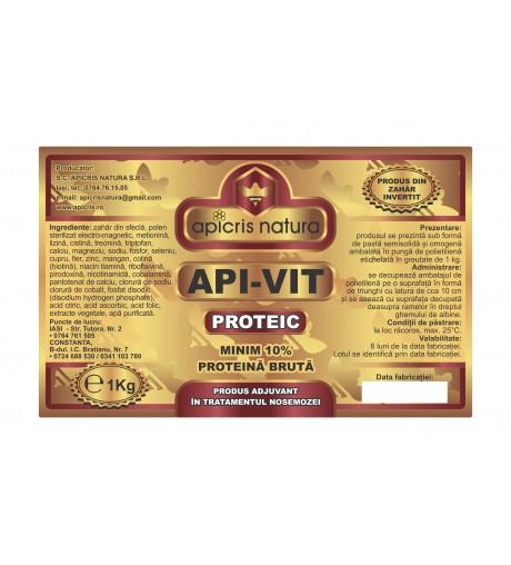 Turta apivit proteic cu polen sterilizat punga 1 kg