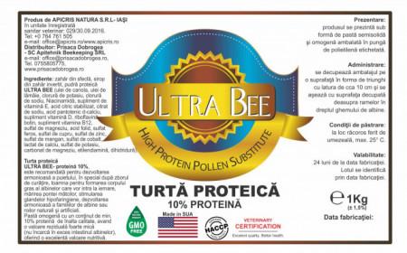 Turta proteica cu Ultra Bee - proteina 10%