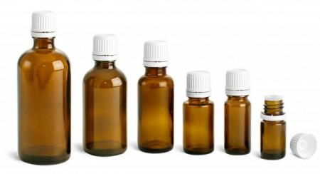 Sticluta de propolis 20 ml cu dop si picurator - set 30 bucati