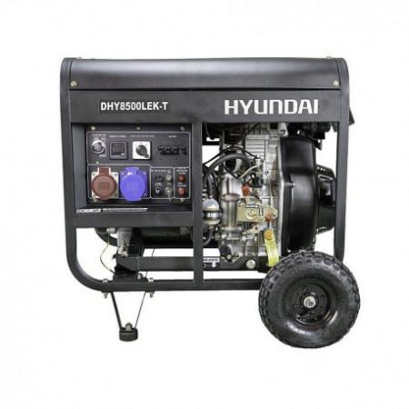Generator diesel, de curent trifazat cu motor diesel HYUNDAI DHY8500LEK-T