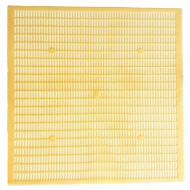 Gratie hanneman, plastic alimentar, 12 rame 50x50cm -Galbena