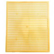 Gratie Hanneman plastic, 10 rame, culoare galbena, 42 x 50 cm