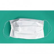 Masca textila reutilizabila alba - set 10 bucati