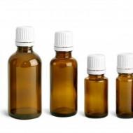 Sticluta de propolis 50 ml cu dop si picurator - set 30 bucati