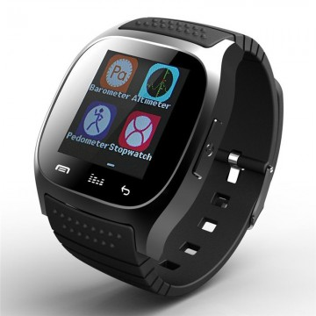 "Ceas smartwatch RegalSmart M26-162 Bluetooth, ecran 1.5"", barometru, pedometru, altimetru, notificari SMS, Facebook, Whatsapp, negru"