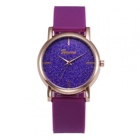 Ceas Dama Geneva Silicone Purple