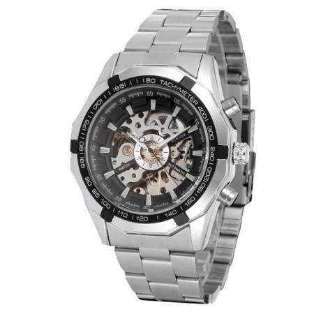 Ceas barbatesc mecanic Winner silver business